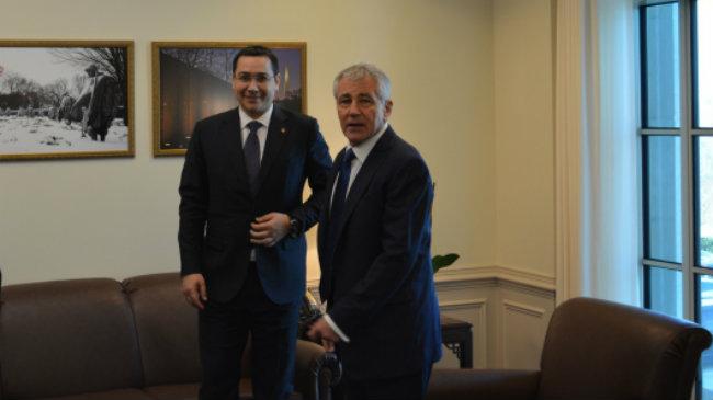 Victor Ponta si Chuck Hagel